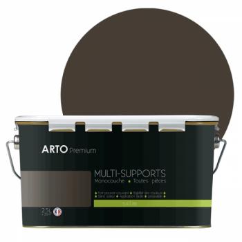 Peinture arto premium multi - supports murs, plafonds, boiseries, plinthes et radiateurs terre sauvage satin 2,5 L