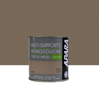 Peinture Apara  multi-supports  Murs, plafonds, boiseries, plinthes...    praline satin 0,5L
