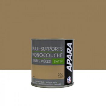 Peinture Apara multi-supports  Murs, plafonds, boiseries, plinthes...  beige taupe satin 0,5L