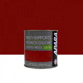Peinture Apara multi-supports  Murs, plafonds, boiseries, plinthes...  rouge intense satin 0,5L