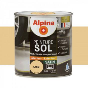 Peinture alpina spéciale sol beige sable satin 0,5L