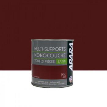 Peinture Apara multi-supports  Murs, plafonds, boiseries, plinthes...  bordeaux satin 0,5L