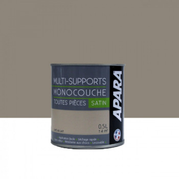 Peinture Apara multi-supports  Murs, plafonds, boiseries, plinthes...  beige café au lait satin 0,5L