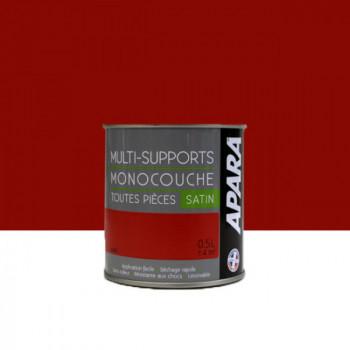 Peinture Apara multi-supports  Murs, plafonds, boiseries, plinthes... rubis satin 0,5L