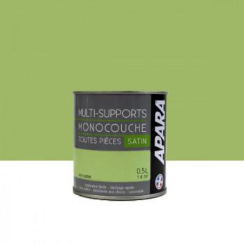 Peinture Apara multi-supports  Murs, plafonds, boiseries, plinthes...  vert rizière satin 0,5L