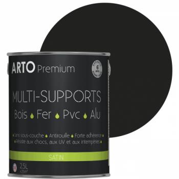 Peinture Arto Premium multi-supports noir satin 2,5L