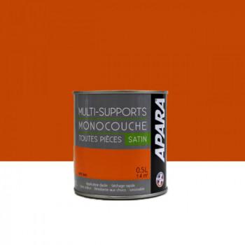 Peinture Apara multi-supports  Murs, plafonds, boiseries, plinthes... orange Pays-Bas satin 0,5L