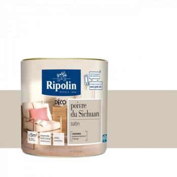 Peinture Ripolin Esprit Déco Murs, plafonds, boiseries et radiateurs poivre de sichuan satin 0,5L