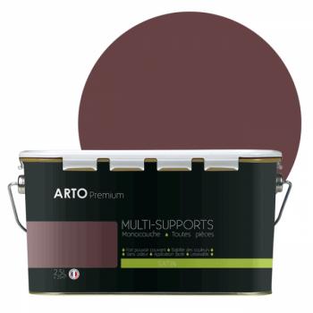 Peinture arto premium multi - supports murs, plafonds, boiseries, plinthes et radiateurs violet élixir satin 2,5 L
