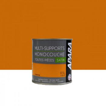 Peinture Apara multi-supports  Murs, plafonds, boiseries, plinthes...  orange clémentine satin 0,5L