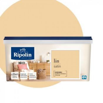Peinture Ripolin Esprit Déco Murs, plafonds, boiseries et radiateurs lin satin 2,5L