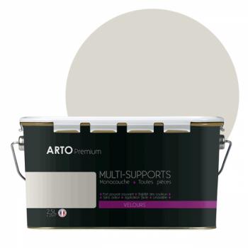 Peinture arto premium multi - supports murs, plafonds, boiseries, plinthes et radiateurs blanc sable velours 2,5 L