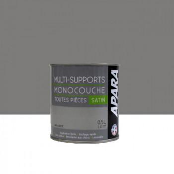 Peinture Apara multi-supports  Murs, plafonds, boiseries, plinthes...  gris bleuté satin 0,5L