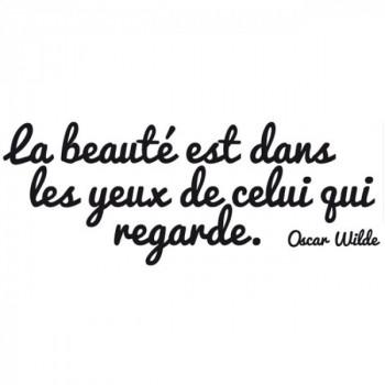 Sticker citation la beauté est dans les yeux…