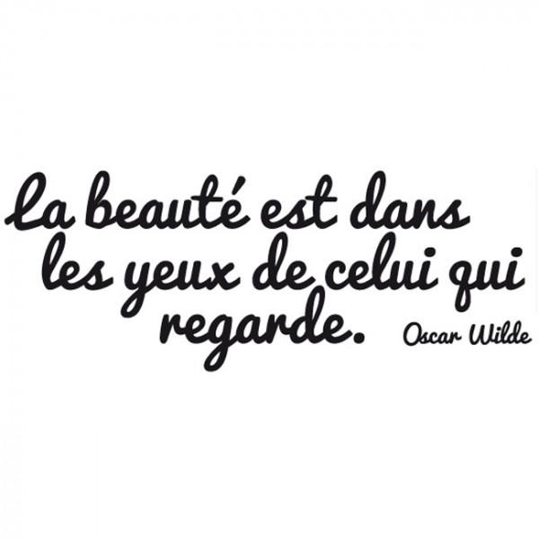 Sticker citation la beauté est dans...
