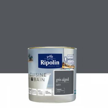 Peinture RIPOLIN cuisine & bain satin gris algol