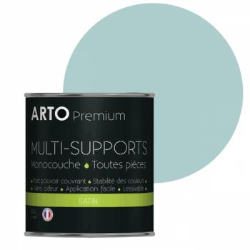 Peinture arto premium multi-supports murs, plafonds, boiseries, plinthes et radiateurs vert voyage satin 0,5 L