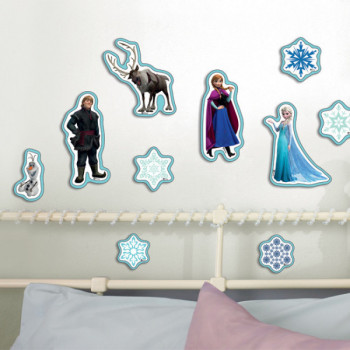 Stickers relief Reine des Neiges