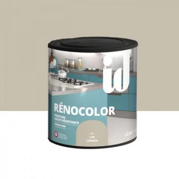 Peinture Id Déco multi-support rénocolor haute résistance lin brillant 0,5L