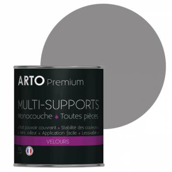 Peinture arto premium multi - supports murs, plafonds, boiseries, plinthes et radiateurs gris souflé velours 0,5 L