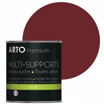 Peinture arto premium multi-supports murs, plafonds, boiseries, plinthes et radiateurs rouge glamour satin 0,5 L