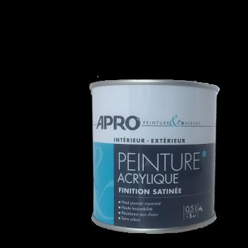 Peinture Apro multi-supports  Murs, plafonds, boiseries, plinthes… noir satin 0,5 L