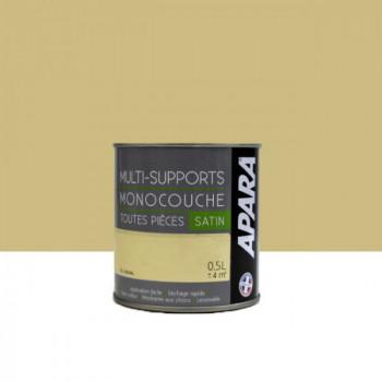 Peinture Apara  multi-supports  Murs, plafonds, boiseries, plinthes… jaune taj mahal satin 0,5L