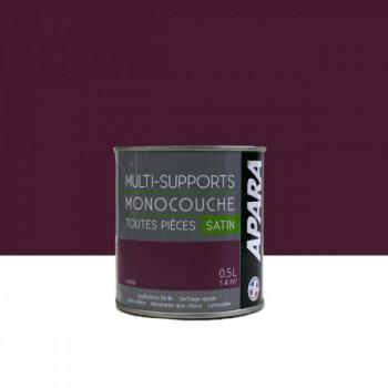 Peinture Apara multi-supports  Murs, plafonds, boiseries, plinthes...  violet cassis satin 0,5L