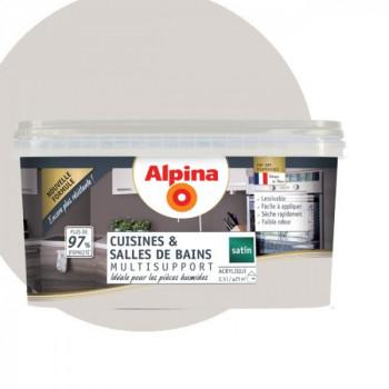 Peinture alpina cuisine & salle de bain nuage satin  2,5L