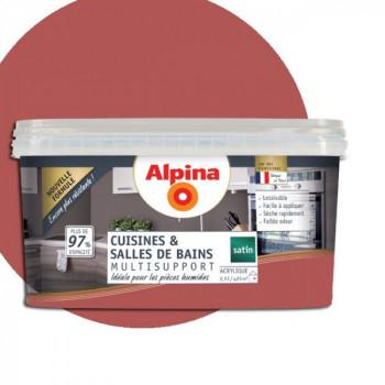 Peinture alpina cuisine & salle de bain terracotta satin  2,5L