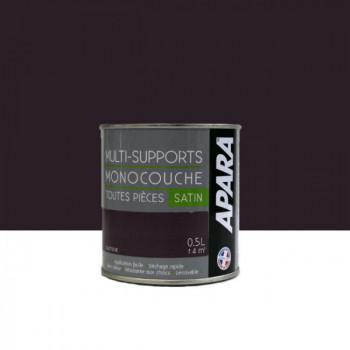 Peinture Apara multi-supports  Murs, plafonds, boiseries, plinthes...  violet quetsche satin 0,5L