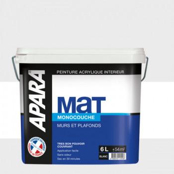 Peinture Apara Murs et plafonds blanc mat 6L