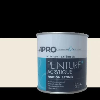 Peinture Apro multi-supports  Murs, plafonds, boiseries, plinthes… blanc cassé satin 0,5 L