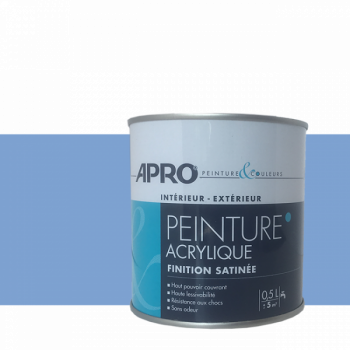 Peinture Apro multi-supports  Murs, plafonds, boiseries, plinthes… bleu satin 0,5 L