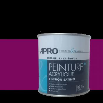 Peinture Apro multi-supports Murs, plafonds, boiseries, plinthes… violet cassis satin  0,5 L