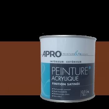 Peinture Apro multi-supports Murs, plafonds, boiseries, plinthes… chocolat satin  0,5 L