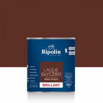 Laque glycéro ripolin multi-supports rouge basque brillant 2L