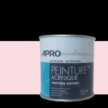 Peinture Apro multi-supports  Murs, plafonds, boiseries, plinthes… rose pétale satin 0,5 L