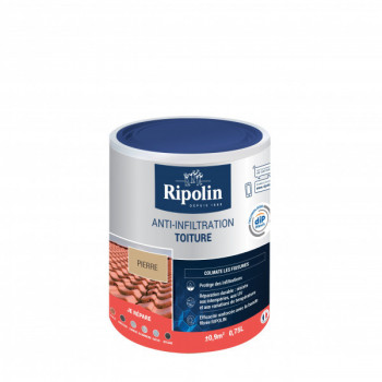 Peinture Ripolin anti-infiltration toiture dip etanch pierre 0,75 L