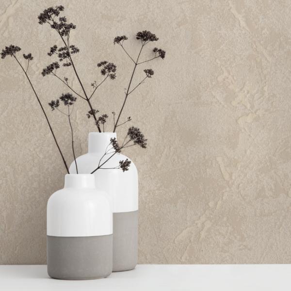 Papier peint intissé béton mat taupe