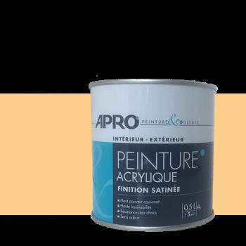 Peinture Apro multi-supports  Murs, plafonds, boiseries, plinthes… jaune giroflé satin 0,5 L