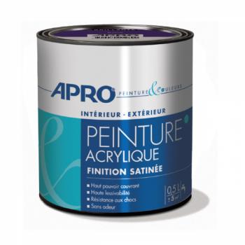 Peinture Apro multi-supports  Murs, plafonds, boiseries, plinthes… blanc satin 0,5 L