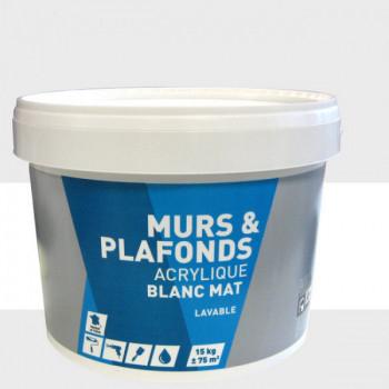 Peinture acrylique blanc mat 15kg