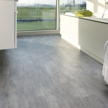 Dalle PVC clipsable béton gris anthracite