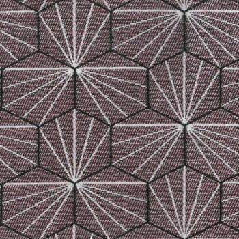 Tissu jacquard géométrique rose 140 cm