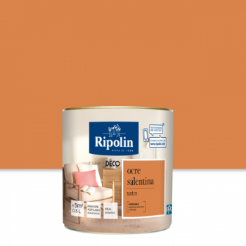 Peinture Ripolin Esprit Déco Murs, plafonds, boiseries et radiateurs ocre salentina satin 0,5L