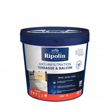 Peinture Ripolin anti-infiltration dip etanch terrasse et balcon sable 5 L