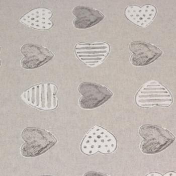 Toile coton aspect lin gris 150 cm