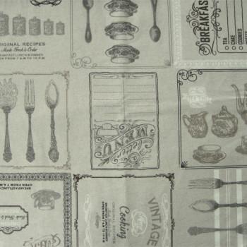 Tissu nappe enduit Vintage 150 cm