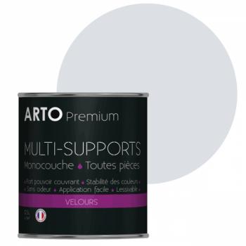 Peinture arto premium multi - supports murs, plafonds, boiseries, plinthes et radiateurs gris lunaire velours 0,5 L